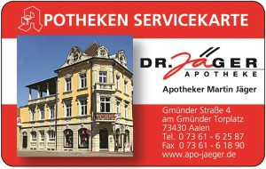 Service- und Kundenkarte der Apotheke Dr. Jäger