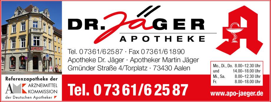 Apotheke Dr. Jäger Aalen Beratung Arzneimittel Medikamente Vorbestellung Homöopathie - Top Beratung und Lieferfähigkeit